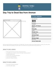 Day Tour to the Dead Sea from Amman - Memphis Tours Egypt