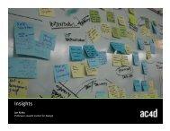 05 Insight Statements - Austin Center for Design
