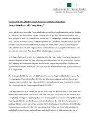 Versetzung von PV-Anlagen - Rechtsanwalt Dr. Thomas Binder