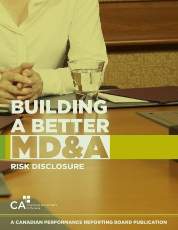 RISK DISCLOSURE - Canadian Institute of Chartered Accountants