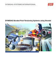 DYWIDAG Bonded Post-Tensioning Systems using Strands
