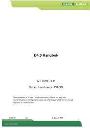 D4.3 Handbok - RECODRIVE