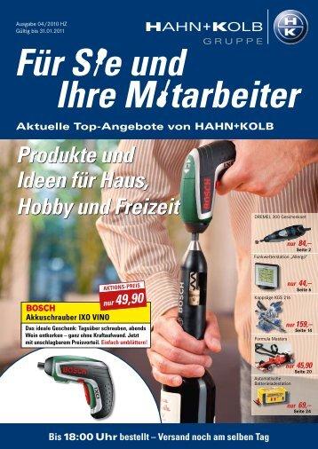 Gebührenfreier Fax-Bestellservice - EN / Hahn+Kolb