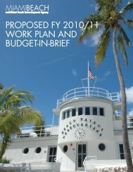 ProPosed FY 2010/11 Work Plan And Budget - City of Miami Beach