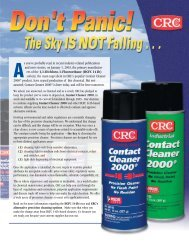 Electronic Degreaser - CRC Industries