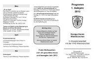 Programm 1. Halbjahr 2013 - Kneipp Landesverband Bayern