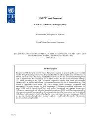UNDP Project Document - UNDP in Tajikistan