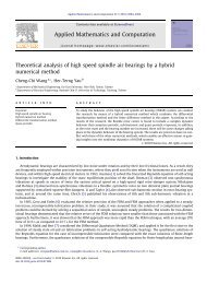 Theoretical analysis of high speed spindle air bearings by a hybrid ...