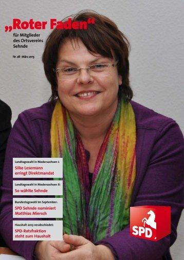 Roter Faden Ausgabe 03 2013 - SPD-Ortsverein Sehnde