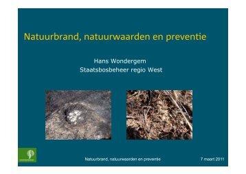 Natuurbrand, natuurwaarden en preventie - VeldwerkPlaatsen