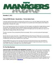 November 11, 2011 (pdf) - Professional Dairy Producers of Wisconsin