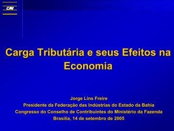 Carga Tributária e seus Efeitos na Economia - CNI