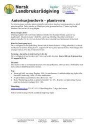 Les mer her - Norsk Landbruksrådgiving Agder