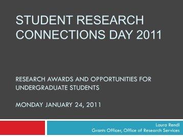 NSERC USRA Undergraduate Student Research Award