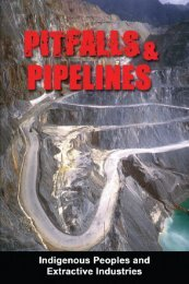 Pitfalls and Pipelines - Philippine Indigenous Peoples Links