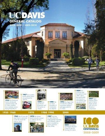 UC Davis 2008-2010 General Catalog - General Catalog - UC Davis