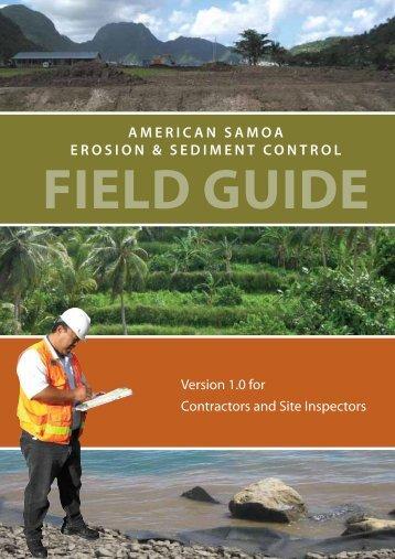 American Samoa Erosion & Sediment Control Field Guide