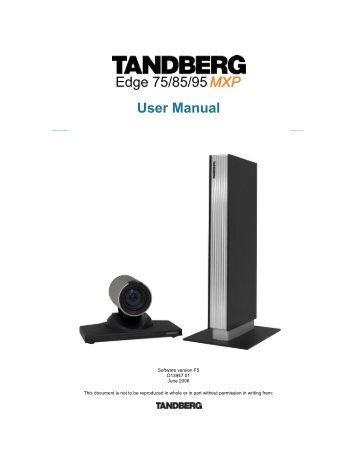 title guide to video conference tandberg edge 95 rh yumpu com tandberg edge 95 mxp manual español Cisco Edge 95 MXP