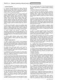 ŠkoFIN s.r.o. - Obchodní podmínky úvěrových smluv č. I