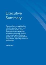 Executive Summary - hiqa.ie