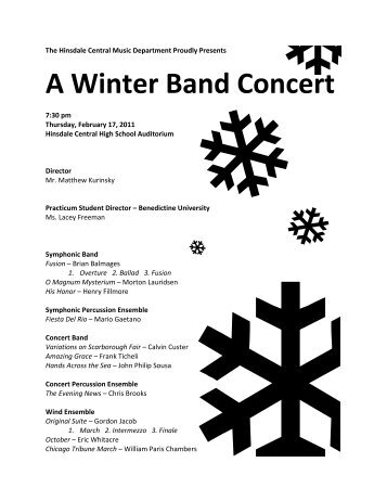 A Winter Band Concert - Hinsdale Township High School District 86