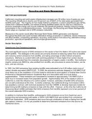 Recycling and Waste Management Subgroup - California Climate ...