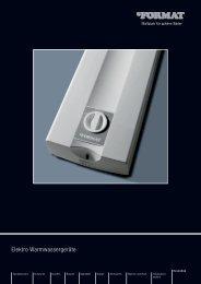 Elektro Warmwassergeräte - Format