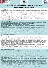 Meningiti e altre malattie invasive batteriche in Piemonte ... - EpiCentro