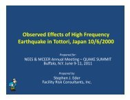 Observed Effects of High Frequency Earthquake in Tottori ... - MCEER