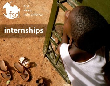 Intern Abroad Brochure - Foundation for Sustainable Development