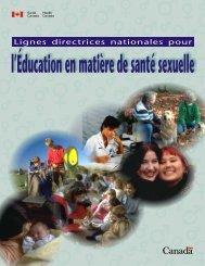 l'Éducation en matière de santé sexuelle - Canadian Public Health ...
