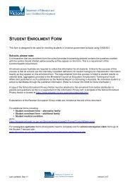 2014 Enrolment Form - Hawthorn West Primary School