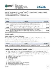 ArcPad with Trimble Yuma Rugged Tablet Computer, a ... - Esri