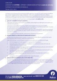 ASPIRANT-COMMISSAIRE DE POLICE (CADRE DES ... - Jobpol