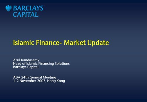 Plenary Session Four: ISLAMIC BANKING AND FINANCE