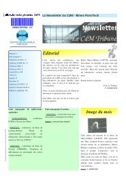 Le CdM Tribune - Centre des Matériaux - MINES ParisTech