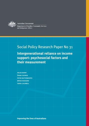 psychosocial factors and their measurement - pdf - Department of ...