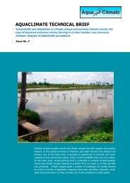 aquaclimate technical brief - Library - Network of Aquaculture ...