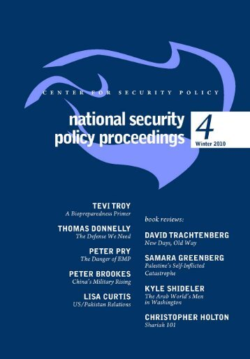 New Days, Old Ways - Center for Security Policy