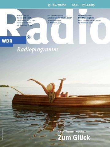Zum Glück - WDR - Radiobroschüren Online - WDR.de