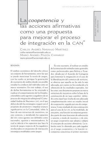 La coopetencia y las acciones afirmativas como una propuesta para ...