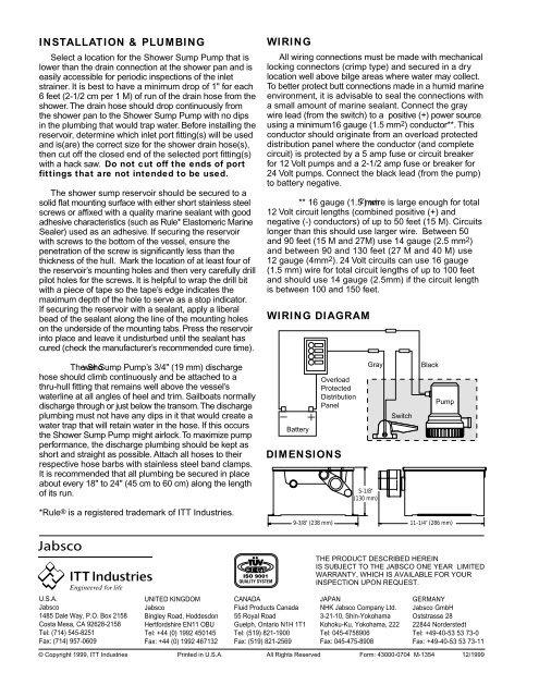 installation & plumbing wiring wiring diagram dimensions - pyacht.com  yumpu