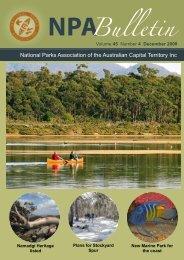 Vol 45 No 4 Dec 2008 - National Parks Association of the ACT