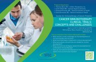 Invitation to Attend SITC's Clinical Trials Workshop - Society for ...
