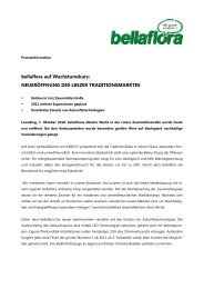 NEUERÖFFNUNG DES LINZER TRADITIONSMARKTES - Bellaflora
