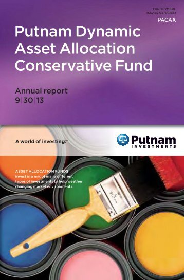 Dynamic Asset Allocation Conservative Fund Annual Report