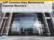 SAP Common Area Maintenance Expense ... - B4 Consulting