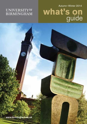 University-of-Birmingham-Whats-On-guide-Autumn-and-Winter-2014