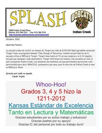 Grados 3, 4 y 5 hizo la 1211-2012 Kansas Estándar de Excelencia ...