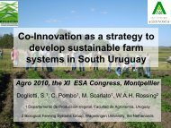 Co-Innovation as a strategy to develop sustainable farm systems in ...